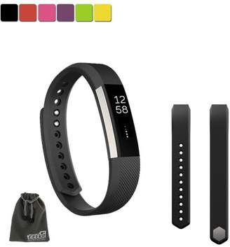 Fitbit EEEkit EEEKit SMALL S Size Silicone Replacement Sports Watch Wrist Band Strap w/ Clasp for Alta(Black)
