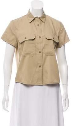 Nlst Short Sleeve Button-Up Top