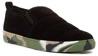 Hip And Bone Suede Fly Camo Slip-On Sneaker