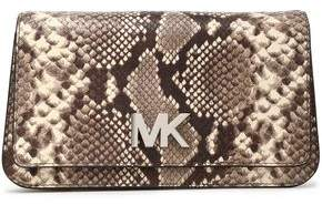 783047ba6d3e COM · MICHAEL Michael Kors Snake-Effect Leather Clutch