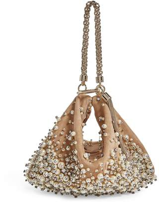 Jimmy Choo Medium Embroidered Callie Clutch Bag