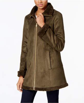 Jones New York Faux-Shearling A-Line Walker Coat $360 thestylecure.com