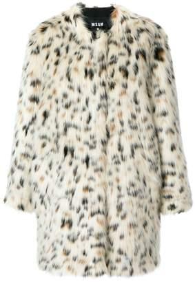 MSGM leopard print coat