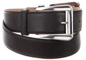 Michael Kors Leather Buckle Waist Belt