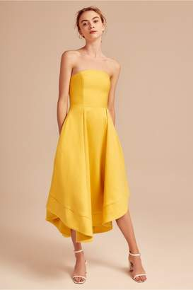 C/Meo Collective MAKING WAVES DRESS yellow