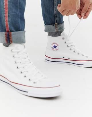116c78dd4c2500 Converse Chuck Taylor All Star Hi Plimsolls In White M7650C