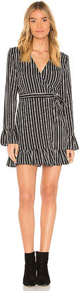 The Fifth Label Ophelia Stripe Wrap Mini Dress