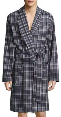 Hanro Paolo Plaid Flannel Robe, Toffee Check $248 thestylecure.com