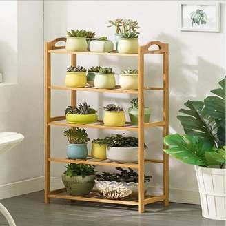 Magshion Shelf Rack Bathroom Kitchen Storage Shelf Plant Stand Bookcase 5 Tier