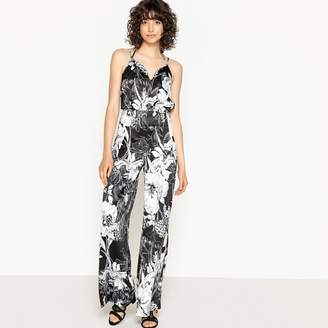 642740e1a0a0 La Redoute COLLECTIONS Printed Wide Leg Jumpsuit with Shoestring Straps