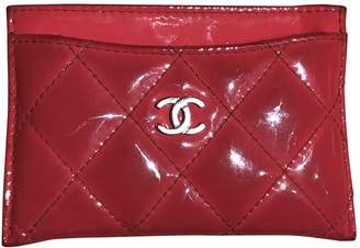 Chanel Timeless patent leather card wallet