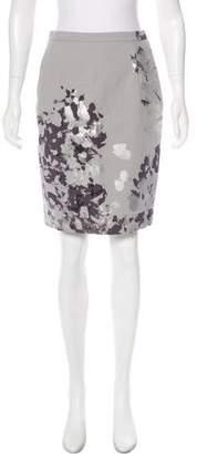 Michael Kors Metallic Knee-Length Skirt