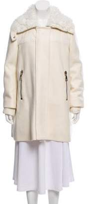 Moncler Calipso Wool-Blend Coat w/ Tags