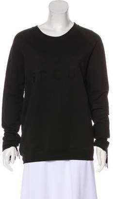Zoe Karssen Boy Scout Fringe Long Sleeve Sweatshirt w/ Tags