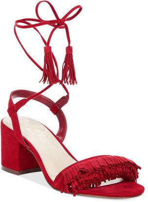 Callisto Melz Lace-Up Block-Heel Dress Sandals $100 thestylecure.com