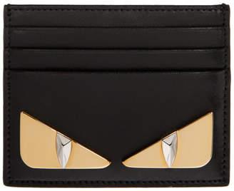 Fendi Black Micro Bag Bugs Card Holder