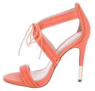 Pour La Victoire Perforated Leather Sandals