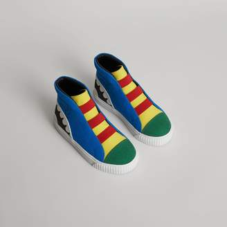 Burberry Monster Graphic High-top Sneakers