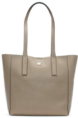 92b203834e Michael Kors Medium Junie Truffle Pebbled Leather Tote Bag