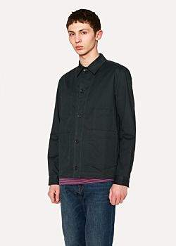 Paul Smith Men's Dark Green Stretch Cotton-Twill Chore Jacket