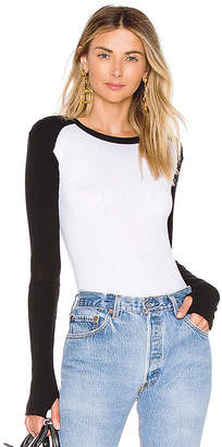 Enza Costa Cashmere Moto Crew Neck Top