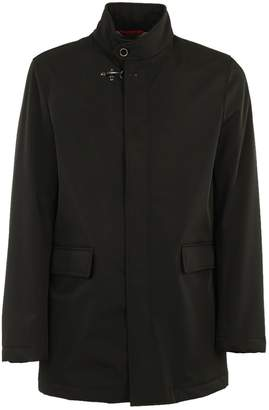 Fay Buttoned Collar Raincoat