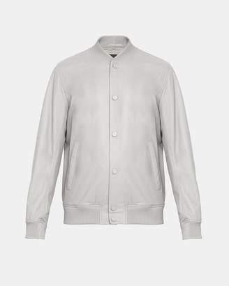 Theory Leather Varsity Jacket