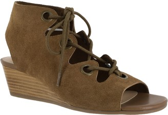 Bella Vita Leather Lace Up Wedges - Ingrid