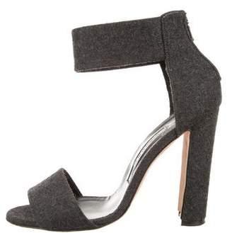 Manolo Blahnik Woven Ankle-Strap Sandals