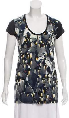 Barbara Bui Penguin Printed Casual Top