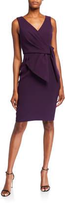 Eliza J Sleeveless V-Neck Sheath Dress