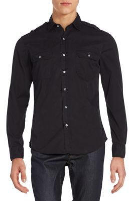 Twill Military Rover Sportshirt $245 thestylecure.com