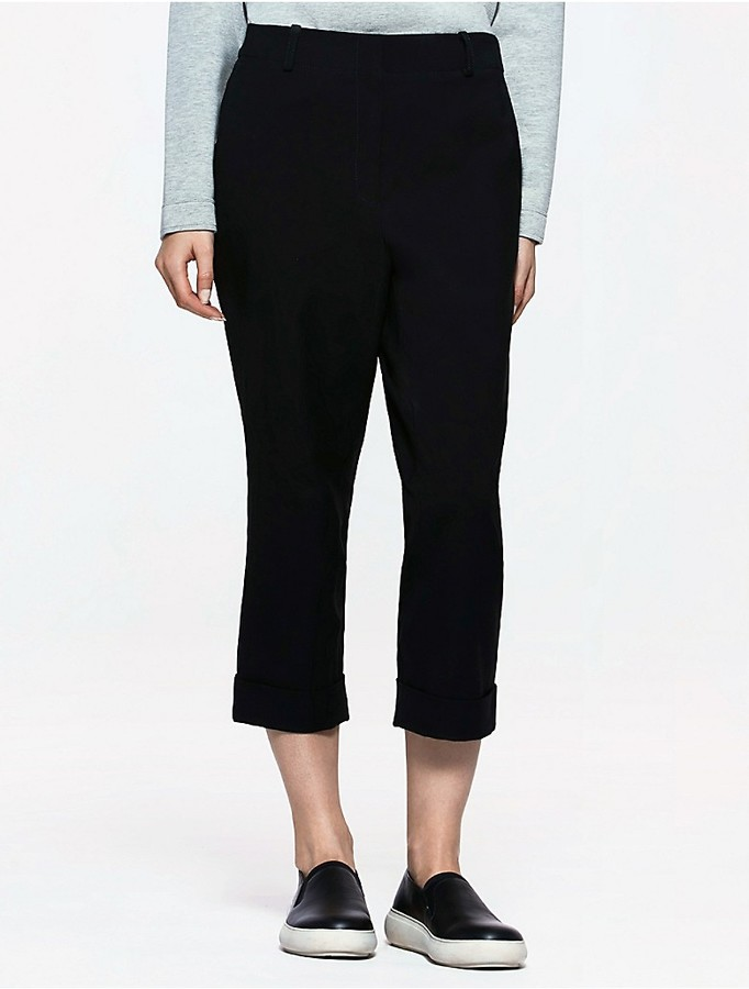 Calvin Klein Platinum Twill Belted Skinny Pants
