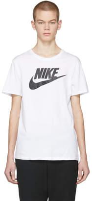 Nike White and Black Futura Icon Logo T-Shirt