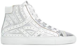 Just Cavalli Serpentine high top sneakers