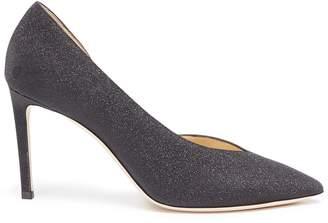 Jimmy Choo 'Sophia 85' glitter coated leather d'Orsay pumps
