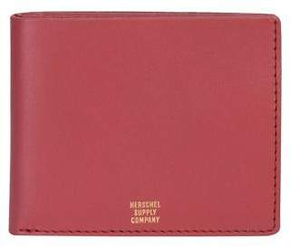 Herschel New Men's Miles Premium Leather Wallet Leather Red N/A