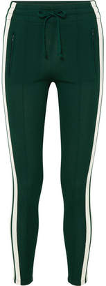 Etoile Isabel Marant Dario Striped Jersey Track Pants - Forest green
