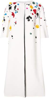 Oscar de la Renta embroidered coat
