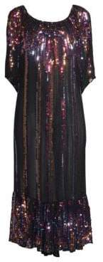 Carolina K. Charro Sequin Midi Dress