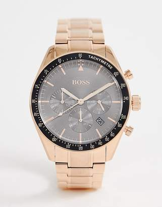 BOSS 1513632 Trophy bracelet watch in rose gold