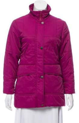 Burberry Mock Neck Quilted Jacket