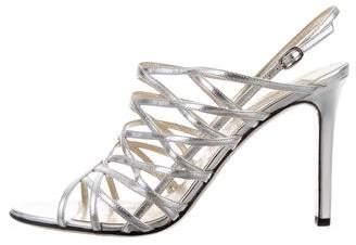 Valentino Slingback Metallic Sandals