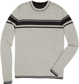 Original Penguin REVERSIBLE CHEST STRIPE CREW SWEATER