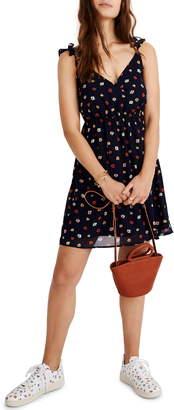 da72f48b6fe Madewell Ruffle Strap Faux Wrap Dress
