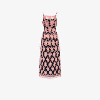 Burberry Floral-embroidered Sleeveless Dress