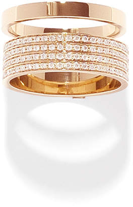 Repossi Technical Berbere Diamond Band Ring in 18K Gold