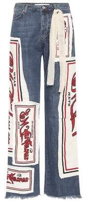 J.W.Anderson Printed high-waisted jeans