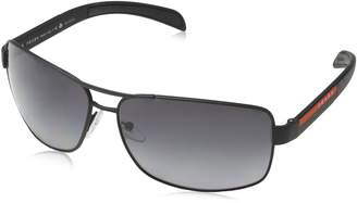 Prada Men's PS54IS-1BO1A1-65 Aviator Sunglasses