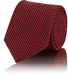 Brioni Men's Mini-Houndstooth Wool-Silk Necktie - Red